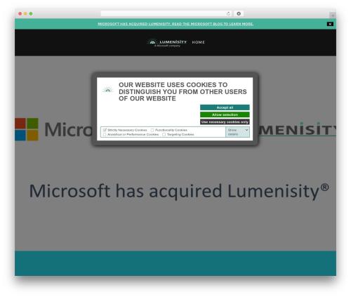 Lodestar WordPress page template - lumenisity.com