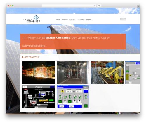 Modernist template WordPress - grabner-automation.at