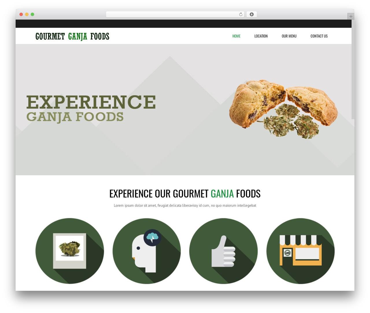 Subway food WordPress theme - gourmetganjafood.com