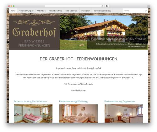 Tempera free WordPress theme - graberhof-bad-wiessee.de