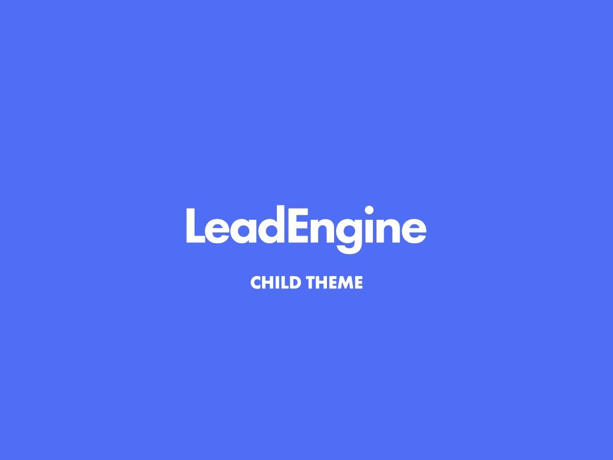 Template WordPress LeadEngine Child