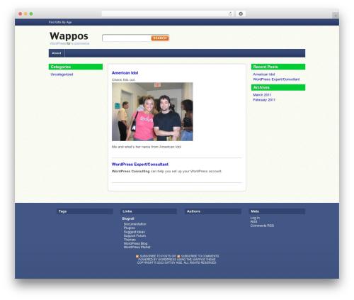 Template WordPress Wappos - giftbyage.com
