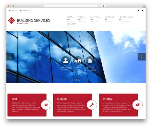 Theme WordPress Arkitekt - gdbuilding.co.uk