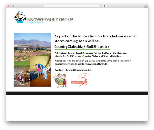 Theme WordPress Divi - golfshops.biz