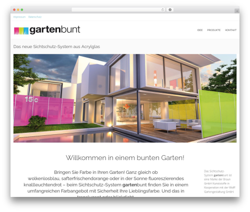 Free WordPress Child Theme Generator plugin - gartenbunt.de