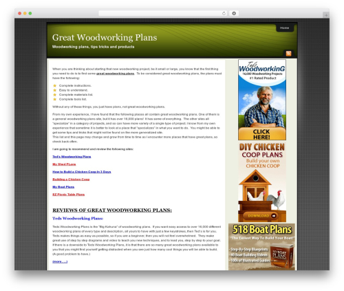 Affiliate Internet Marketing theme WP template - greatwoodworkingplans.net