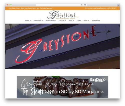 Divi WordPress restaurant theme - greystonesteakhouse.com