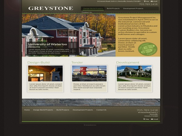 Greystone WordPress theme