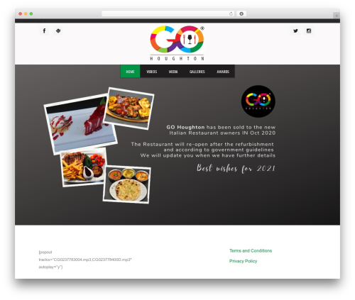 Grill WordPress restaurant theme - gohoughton.com