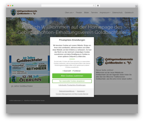 Pinnacle WordPress theme - goldbachtaler.de