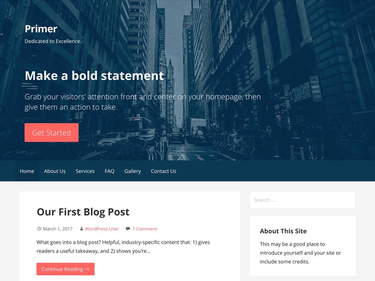 Primer-child theme WordPress