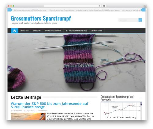 WordPress template HappenStance Premium - grossmutters-sparstrumpf.de