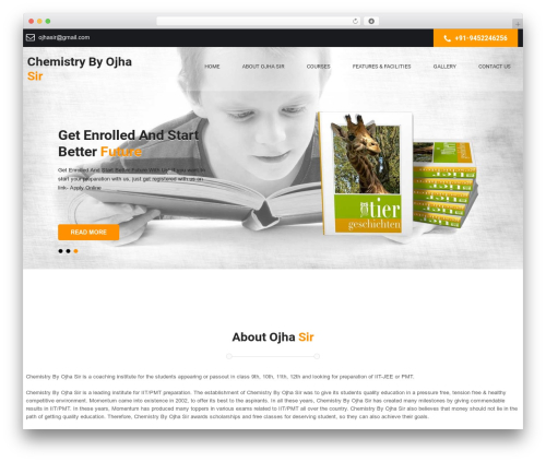 WordPress template SKT Launch - chemistrybyojhasir.com