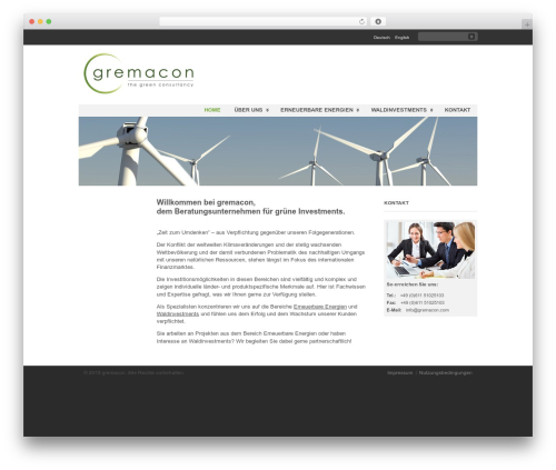 WordPress theme Clearly Modern - gremacon.ch