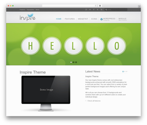 WordPress theme Inspire - golfstarter.be