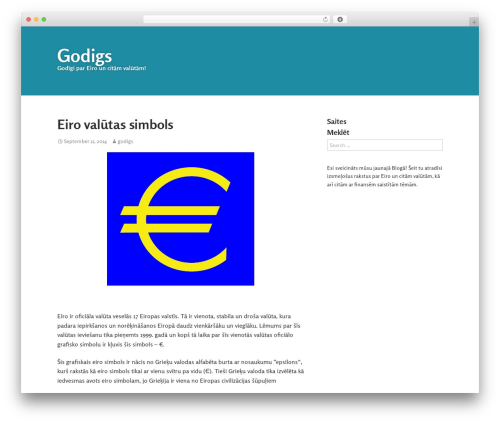 WordPress website template Gumbo - godigs.lv