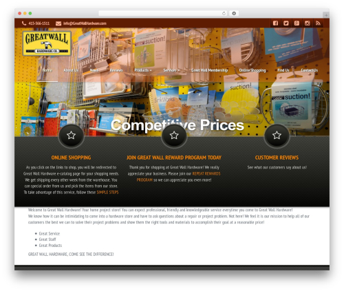 Best WordPress theme Pro Styler Evo - greatwallhardware.com