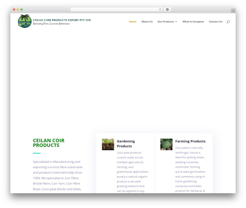 Divi WordPress theme - greenpeatcoco.com