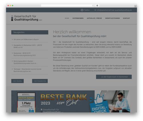 Edena WordPress theme design - gesellschaft-fuer-qualitaetspruefung.de