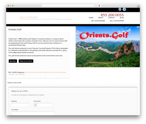 Essential WooCommerce Auction Theme WordPress theme - golf.domains/product/orient-golf