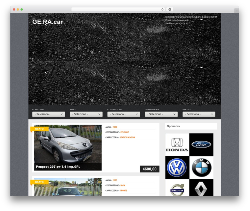 Gears theme WordPress - geracar.it