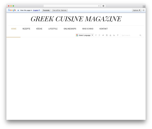 Libero WordPress news template - greek-cuisine.com
