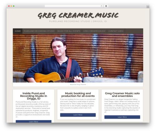 Natural WP template - gregcreamermusic.com