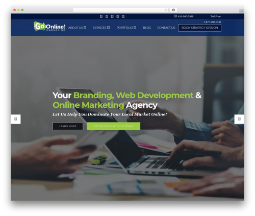Pitch business WordPress theme - greggullo.com