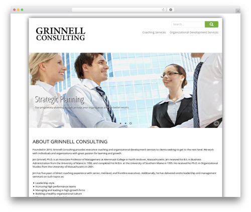 SKT Corp WordPress website template - grinnell-consulting.com