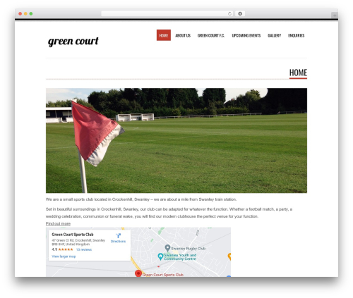 WordPress theme Tesla - greencourtsports.com