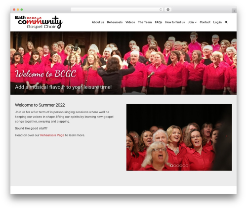 aardvark WordPress theme design - bathcommunitygospelchoir.com