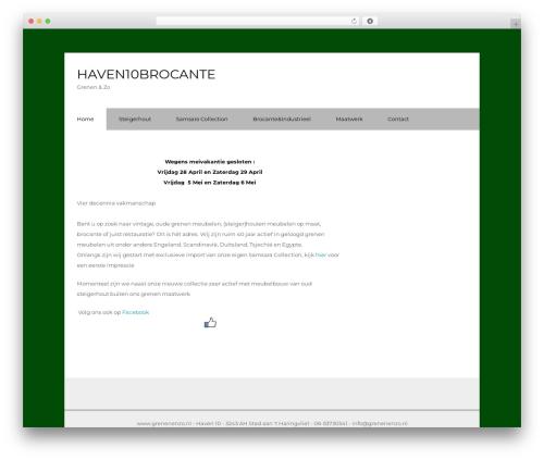 Corporate WordPress theme - grenenenzo.nl
