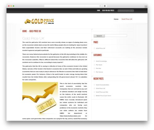 Delicate News WordPress theme - goldpriceuk.org.uk