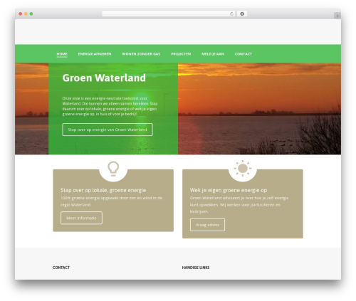 GoodEnergy WordPress page template - groenwaterland.nl