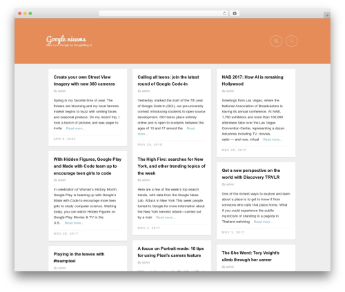 Gridz WordPress theme - googleblog.nl