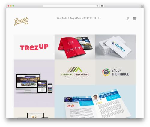 Koncept WordPress page template - graphiste-angouleme.fr