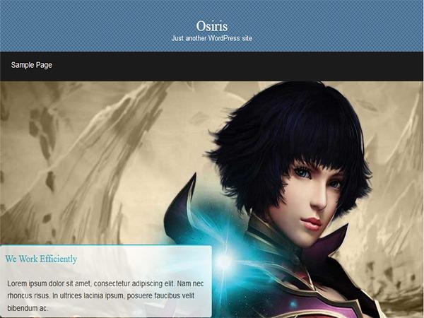 Osiris theme WordPress portfolio