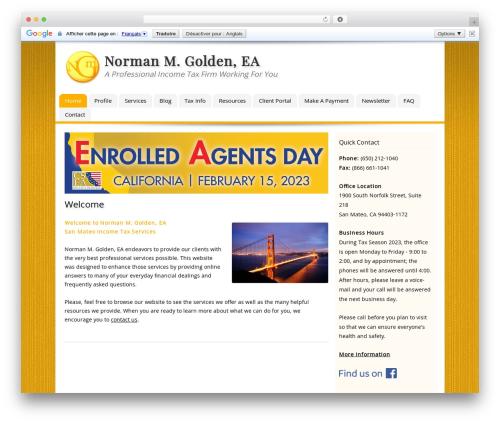 Template WordPress Customized - goldentax.com