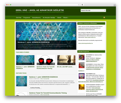 WordPress website template Arras - gralhaz.hu