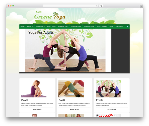 WP theme Organic Natural Theme - greeneyoga.com
