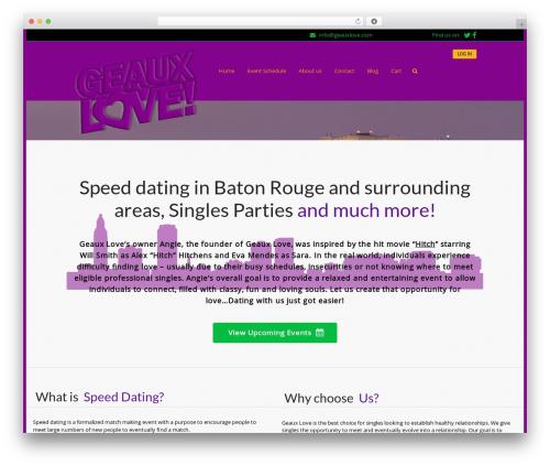 Best WordPress template Sweetdate - geauxlove.com