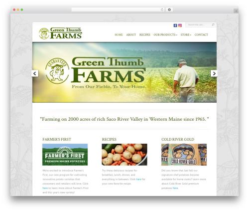 Chameleon WordPress theme - greenthumbfarms.com