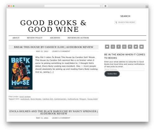 Runway WordPress theme - goodbooksandgoodwine.com