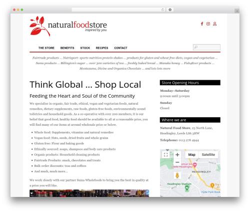 Themify Funki best WordPress template - naturalfoodstore.coop