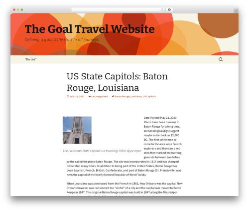 Twenty Thirteen free WordPress theme - goaltravels.com