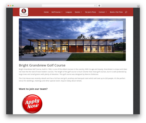 WordPress template Divi - golfbrightgrandview.com