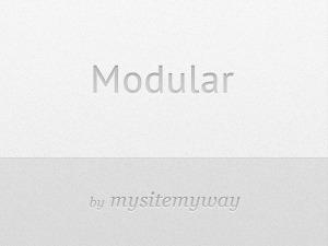 WordPress template Modular