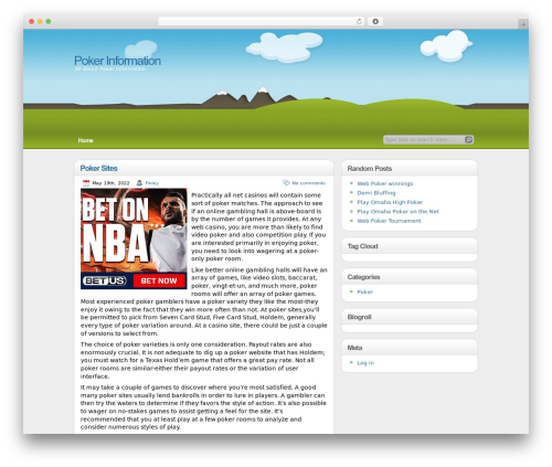 WordPress website template illustrative - goldenplacpoker.com