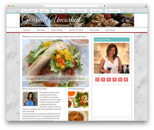 WordPress website template Innovative Child Theme - gourmetuncorked.com