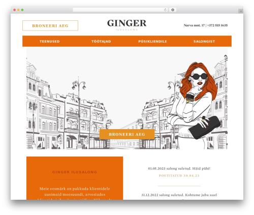 Best WordPress theme Ginger - ginger.ee